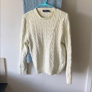 Ralph Lauren Cream Crew Neck Sweater